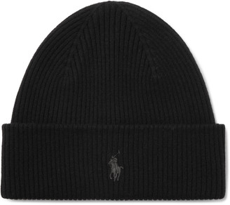 Polo Ralph Lauren Logo-Embroidered Ribbed Wool Beanie