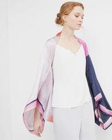 Ted Baker Marina Mosaic silk cape scarf