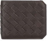 Santoni woven cardholder - men - Leather - One Size