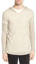 John Varvatos Men's Pullover Hoodie Sweater