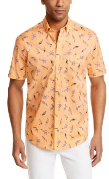 Club Room Men's Tropical Bird Print Shirt, Created for Macy's