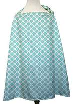 The Peanut Shell Aqua Morroco Designer Breast Feeding Nursing Cover by by