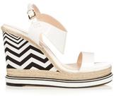 Nicholas Kirkwood Leda patent-leather and espadrille wedge sandals