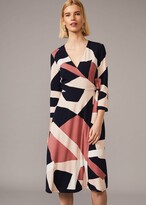 Thumbnail for your product : Phase Eight Nelly Abstract Print Wrap Dress