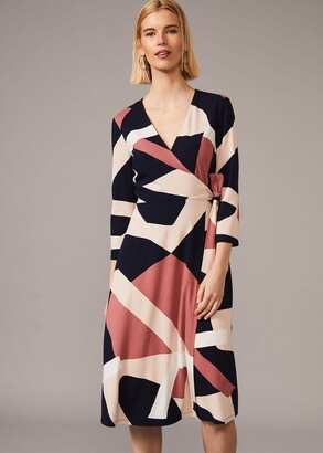 Phase Eight Nelly Abstract Print Wrap Dress