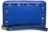 Marc Jacobs Women's Leather ¿pyt¿ Continental Wallet Blue.
