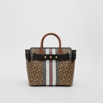 Burberry The Small Monogram Stripe E-canvas Belt Bag