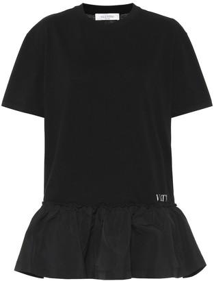 Valentino Cotton jersey and taffeta minidress