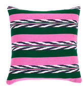 Archive New York Palm 20x20 Pillow - Green/Pink
