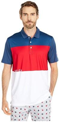 Puma Volition CK6 America Polo (Dark Denim) Men's Short Sleeve Pullover