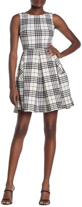 Taylor Sleeveless Fit & Flare Plaid Dress