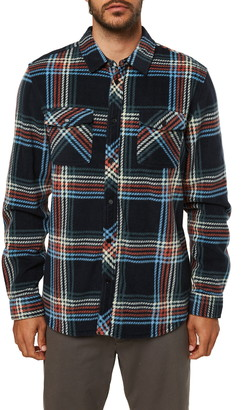 O'Neill Glacier Plaid Snap-Up Fleece Shirt