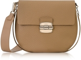 Furla Club S Cappuccino Pebble Leather Crossbody Bag