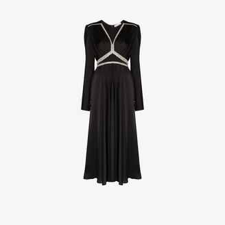 Paco Rabanne Diamante Embellished Satin Gown