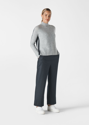 Colour Block Funnel Neck Knit
