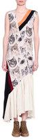 Stella McCartney Cat-Print Sleeveless Maxi Dress, White/Black