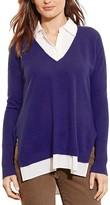Lauren Ralph Lauren Mixed Media Cashmere Sweater - 100% Bloomingdale's Exclusive