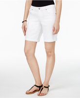 Style&Co. Style & Co Style & Co Petite Denim Cuffed Ex-Boyfriend Shorts, Created for Macy's
