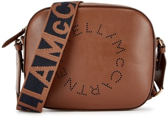 Stella McCartney Stella Logo Mini Brown Cross-body Bag