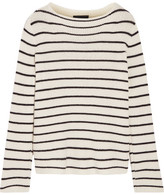 The Row Stretton Striped Cashmere And Silk-blend Sweater - Off-white