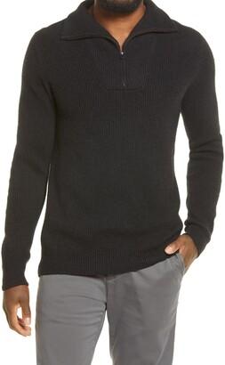Vince Cashmere Quarter-Zip Sweater