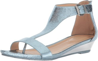Kenneth Cole Reaction Women's Great Gal T-Strap Wedge Storm 6.5 M US