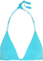 La Perla Plastic Dream Pvc-trimmed Bikini Top - Turquoise