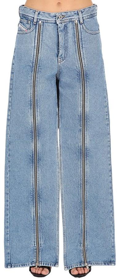 Diesel Shayne Oliver X Shayne Oliver Zip-Up Cotton Denim Jeans