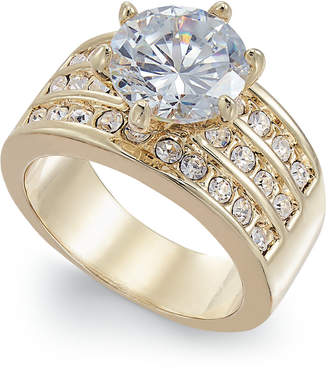 Charter Club Silver-Tone Crystal Triple-Row Ring