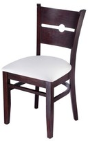 Coinback Upholstered Solid Wood Side Chair Benkel Seating Frame Color: Dark Mahogany