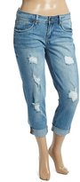 Dollhouse Light Wash Distressed Capri Jeans - Plus