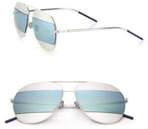 Christian Dior Split1 59MM Metal Aviator Sunglasses