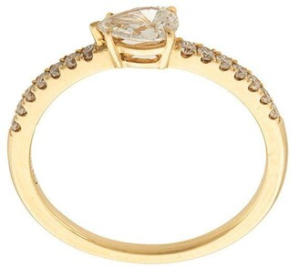 Anita Ko 18kt yellow gold pear diamond pave ring