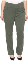 Jag Jeans Plus Size Peri Pull-On Straight in Deep Forest Bay Twill