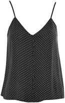 Topshop Pinspot Print Button Camisole Top