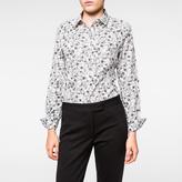 Paul Smith Women's White 'Wild Floral' Print Cotton Shirt