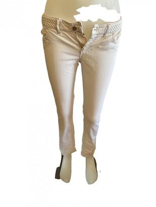 Gucci White Cotton - elasthane Jeans
