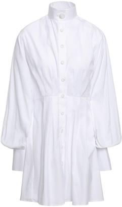 Anna Quan Cutout Striped Cotton Mini Shirt Dress