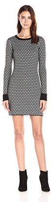 Olive + Oak Olive & Oak Women's Jacquard Sweater Dress