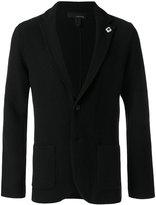 Lardini classic lapel cardigan - men - Nylon/Wool/Alpaca - M