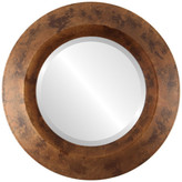 """The Oval And Round Mirror Store Veneto Framed Round Mirror in Venetian Gold, 29""""x29"""""""