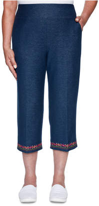 Alfred Dunner Road Trip Stretch Denim Capri Pants