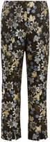 Erdem Syrah floral-jacquard cropped trousers