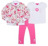 Betsey Johnson Girls' Floral 3pc Jacket Set.