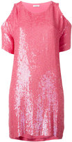 P.A.R.O.S.H. cold shoulder sequin dress - women - Viscose/PVC - M