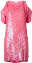 P.A.R.O.S.H. cold shoulder sequin dress - women - Viscose/PVC - XS