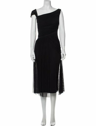 Chiara Boni One-Shoulder Midi Length Dress Black