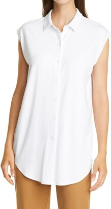 Eileen Fisher Collared Sleeveless Knit Tunic
