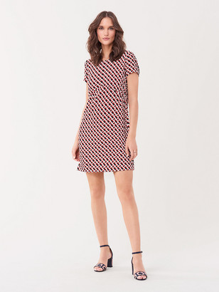 Diane von Furstenberg Carlotta Crepe Mini Dress