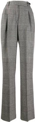Ermanno Scervino plaid high-waist trousers
